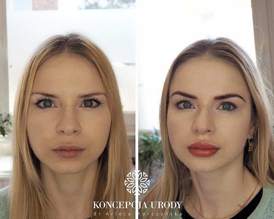Makijaż permanentny brwi i ust